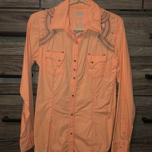 Wrangler Rock 47 Women's Western Snap Down Size S